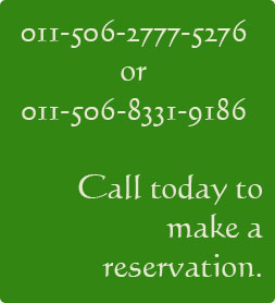 Call today to make a reservation